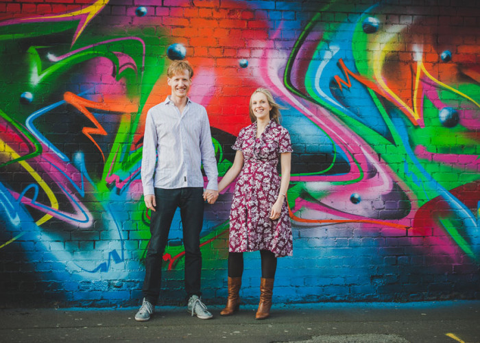 custard factory engagement shoot