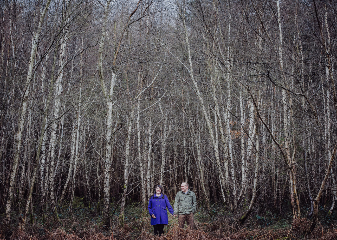 Woodland Pre wedding Shoot | Becky & Wayne Shropshire Pre Shoot