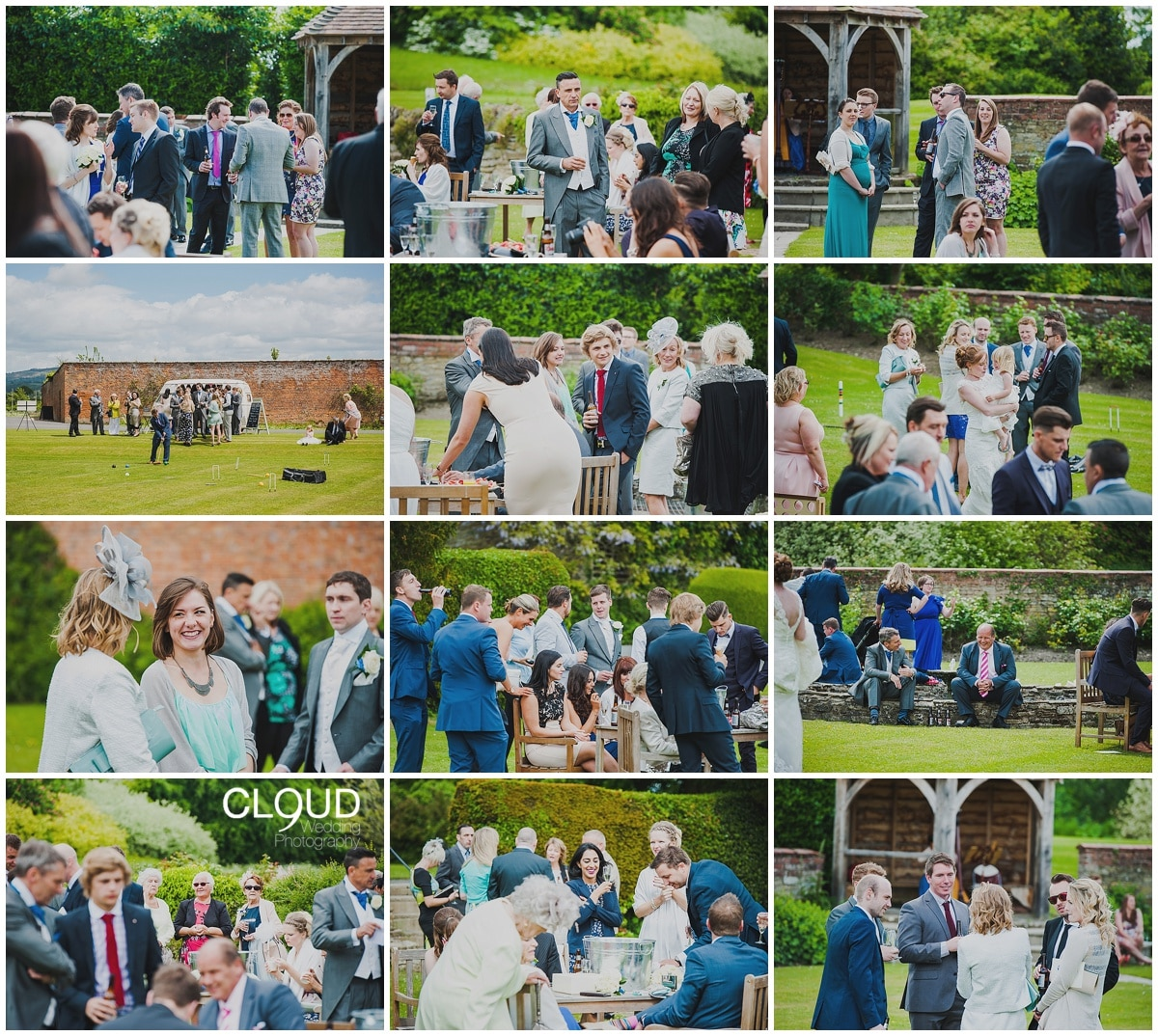 Natural wedding photography at Delbury Hall