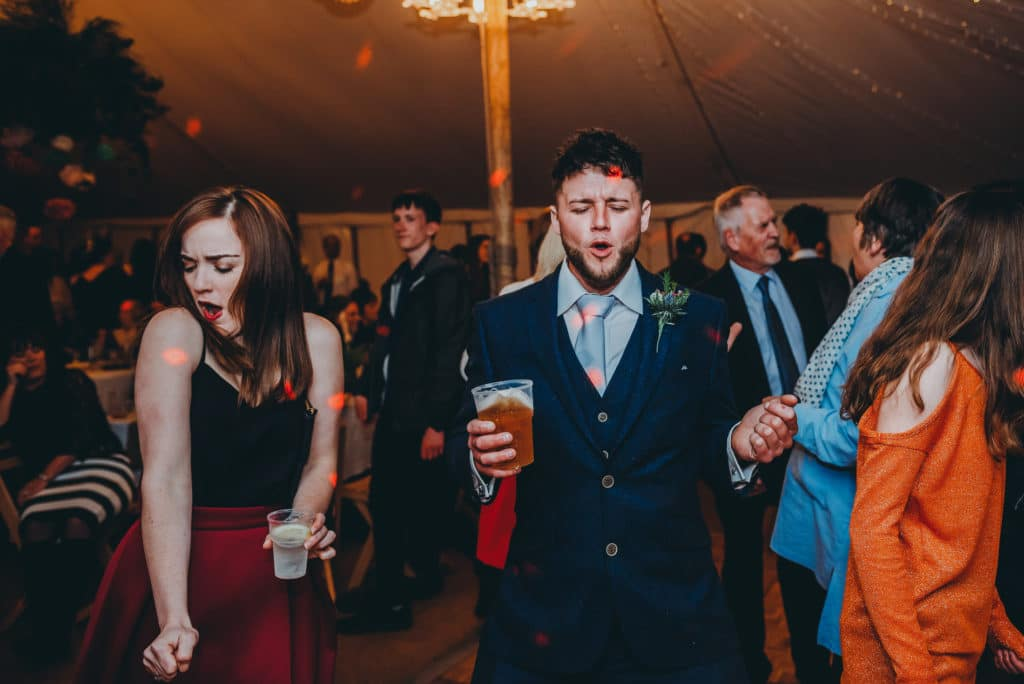 dancing wedding guests in shropshire