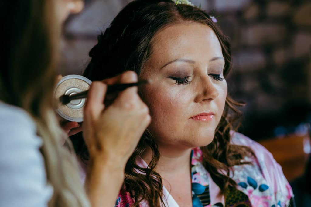 Bridal preparations wedding photography