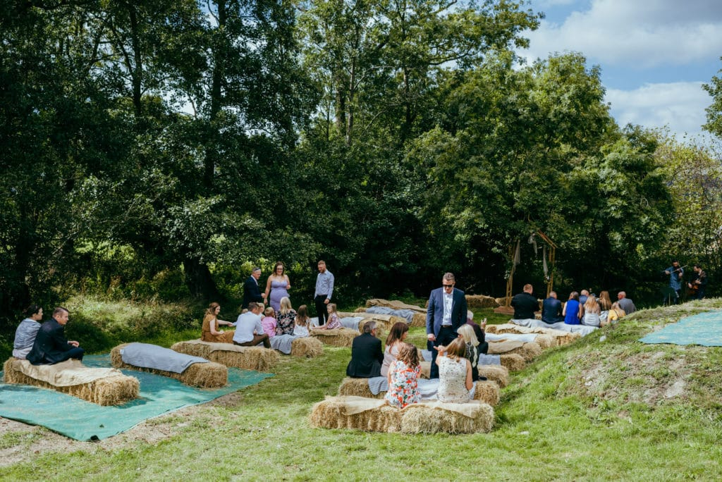 shropshire outdoor wedding ceremony