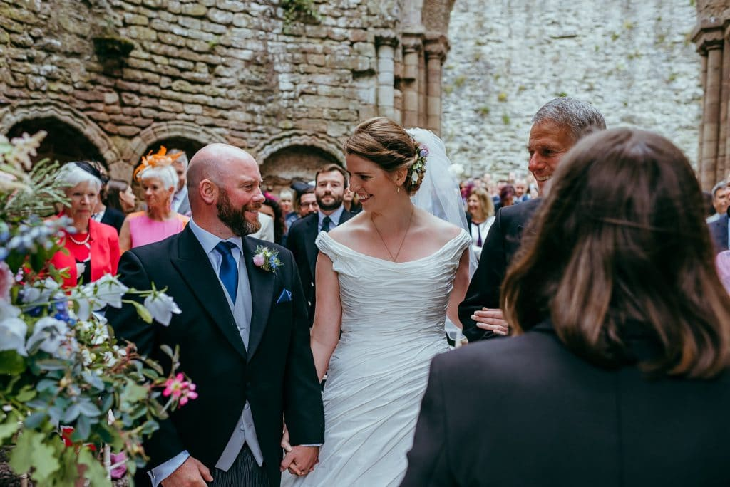 Ludlow castle wedding photography