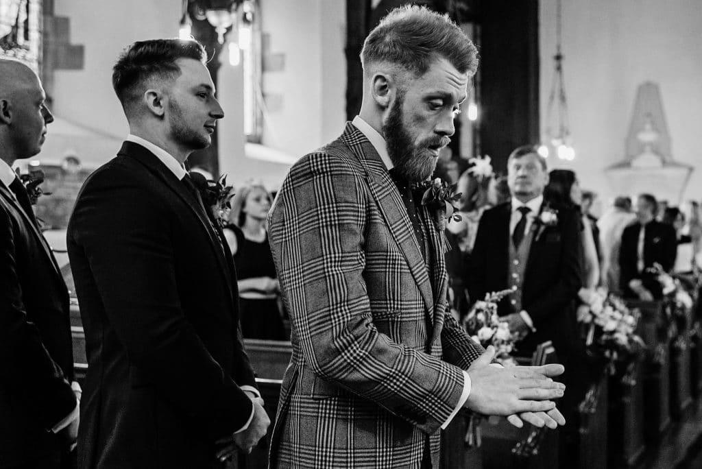 groom at brampton byran church