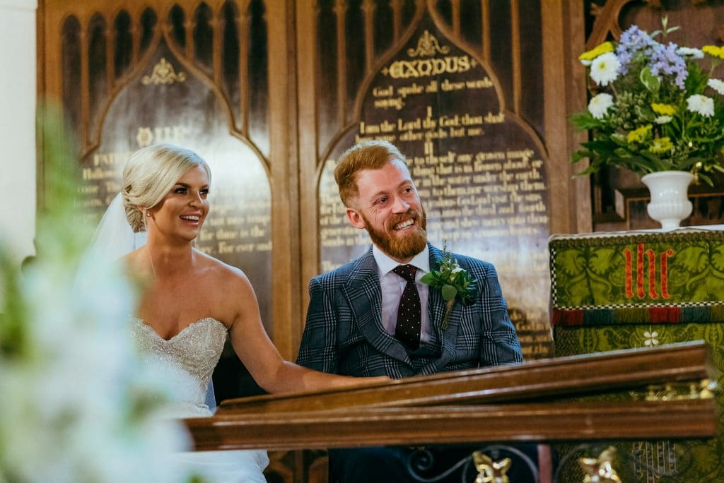 bride and groom in Shropshire