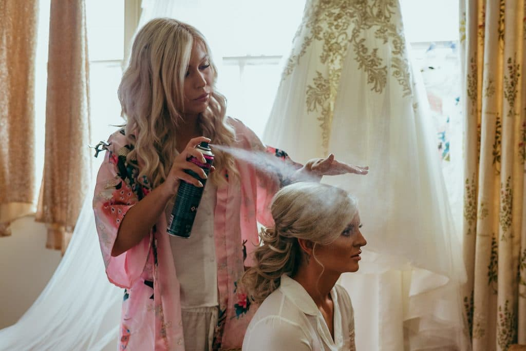 bridal preparations at wilde lodge powys