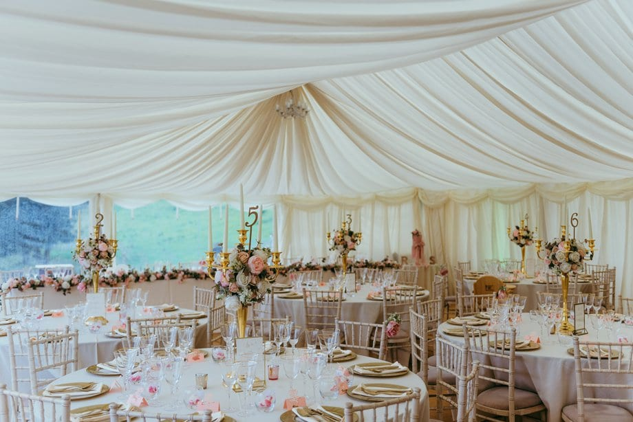luxury wedding decoration at The Bringewood