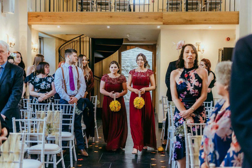 lemore manor indoor wedding ceremony