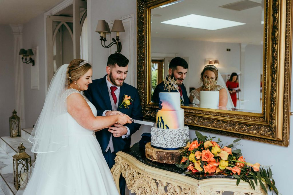 cutting of the cake at lemore manor