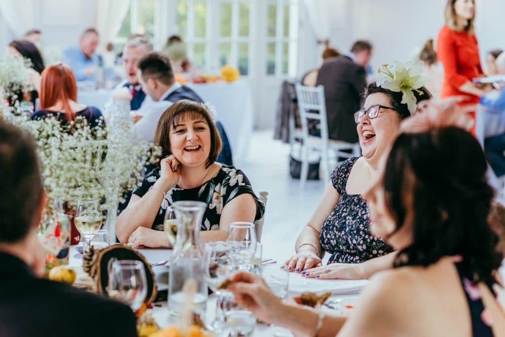 wedding guests at lemore manor