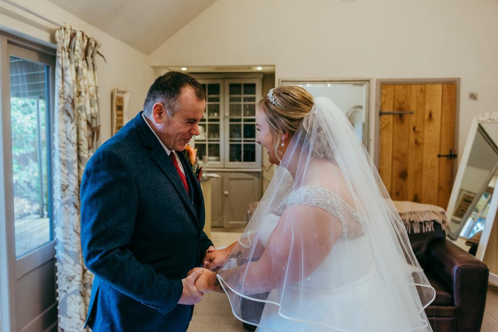 father of the bride first look-lemore manor wedding
