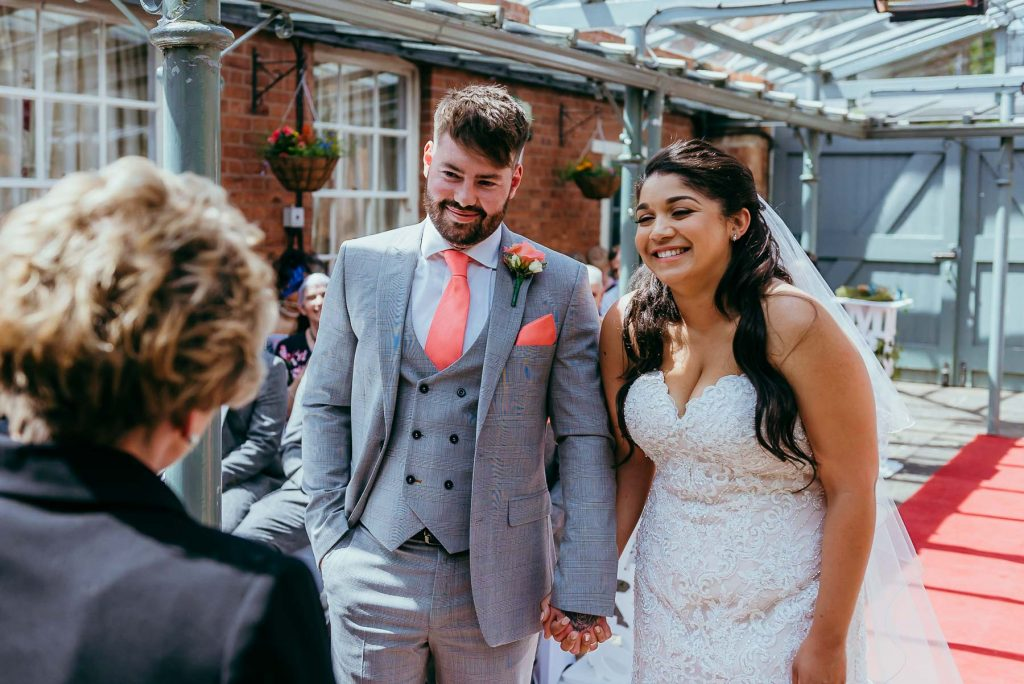 Shrewsbury outdoor wedding ceremony