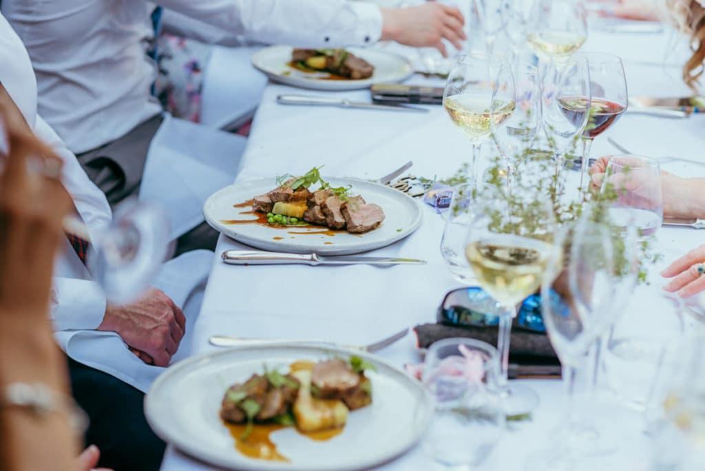 Hampton manor wedding food