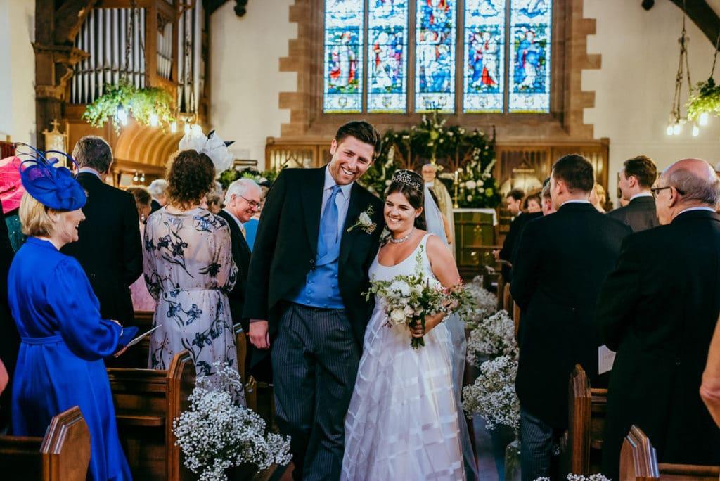 Powys church wedding