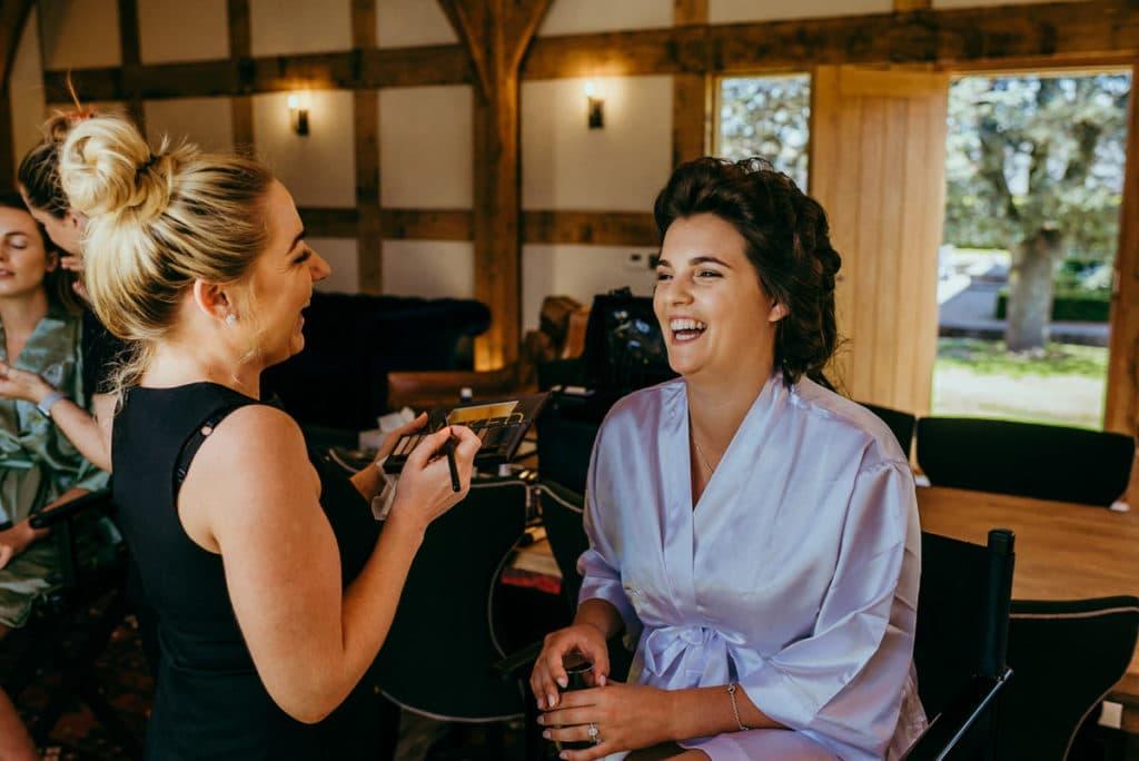 Powys wedding bridal preparations
